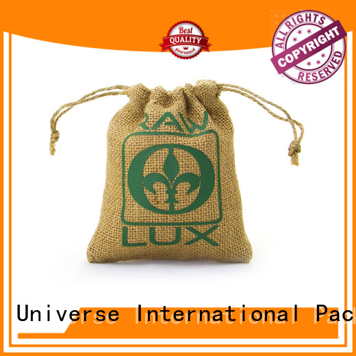 printed jute bags bamboo handle for packing Yonghuajie