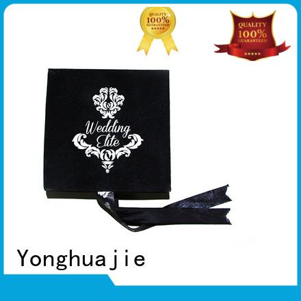 printed velvet storage box high-quality for wedding rings Yonghuajie