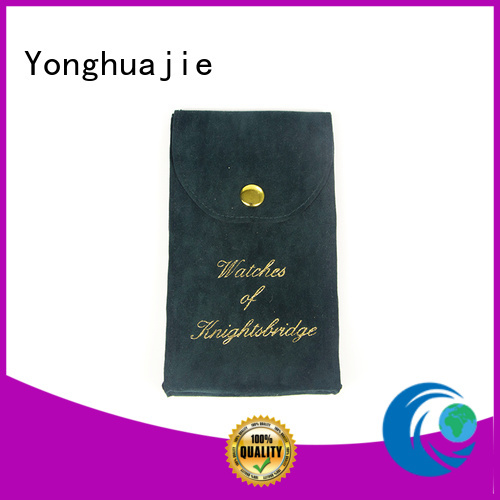 gold satin pouch printed logo manufacturers for packing