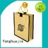 jute gift bags burlap logo drawstring Yonghuajie Brand company