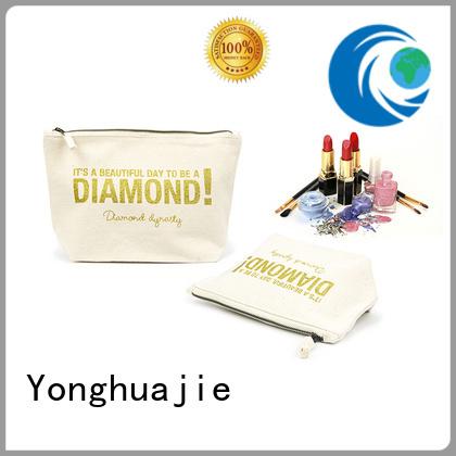 Canvas Zipper Cosmetic Packaging Bag With Custom Printing-UIP016