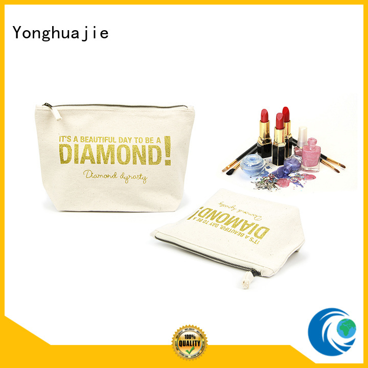 zipper design tote logo Yonghuajie Brand canvas tote bags wholesale supplier