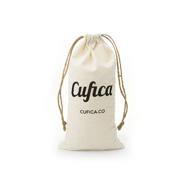 Custom Printed Natural Cotton Storage Drawstring Bag-UIP007