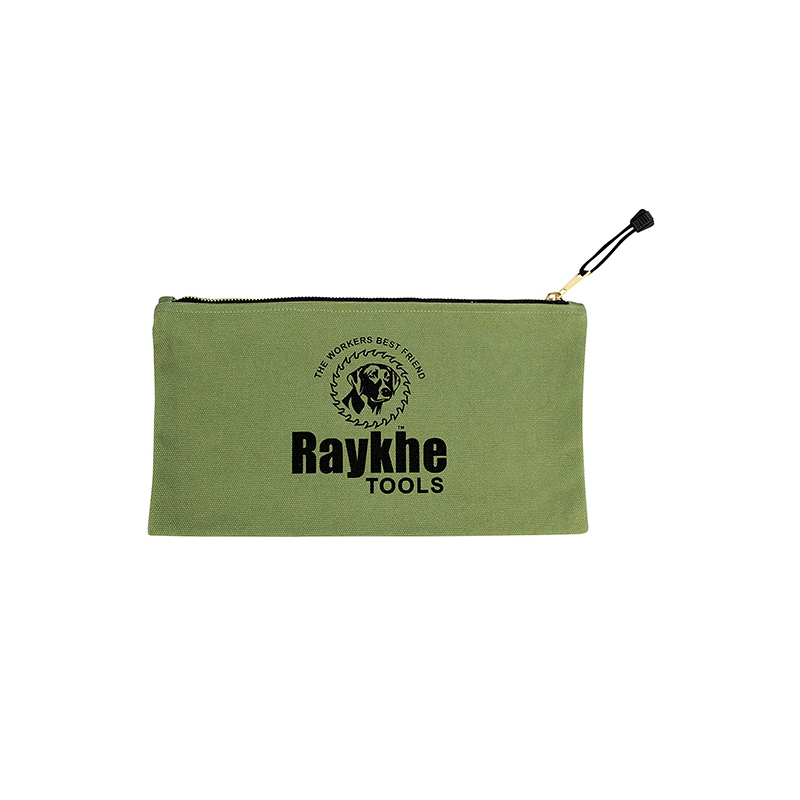 Custom Design Strong Canvas Zipper Tool Bag With Logo Printing-UIP030