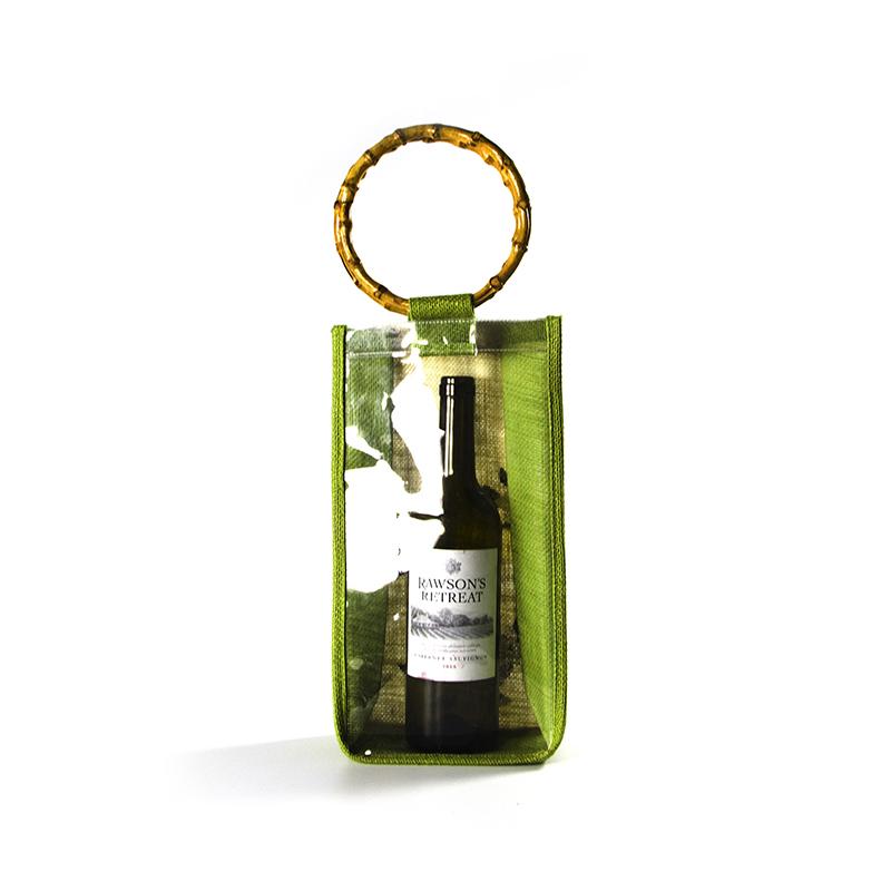Custom Logo Natural Burlap Wine Personalised Jute Bags With Handles-UIP024