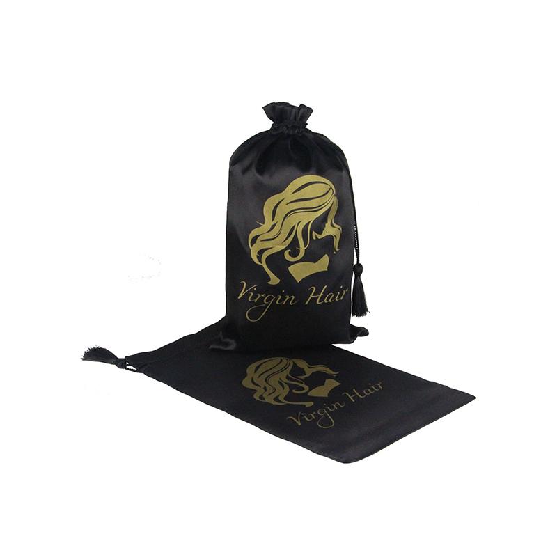 Custom Printed Drawstring Satin Drawstring Bags With Tassels-UIP010