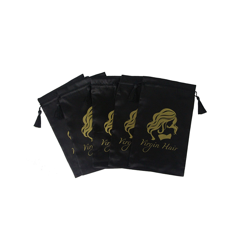 Custom Printed Drawstring Satin Drawstring Bags With Tassels-UIP010