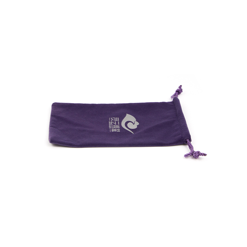 Custom Printed Purple Velvet Storage Drawstring Bag-UIP029
