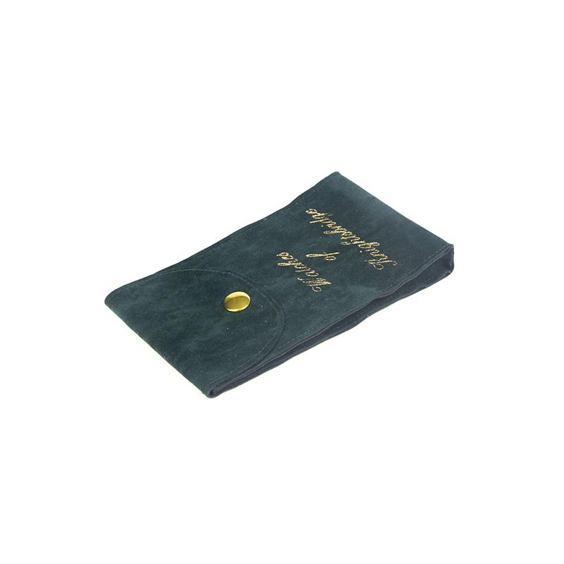 Luxury Custom Size Green Velvet Makeup Bag For Gift-UIP027