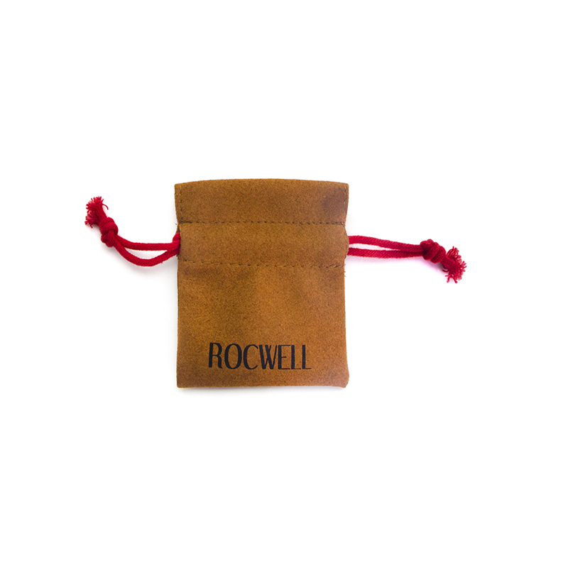 Customized Faux Suede Drawstring Grey Suede Bag For Ring Packaging-UIP001