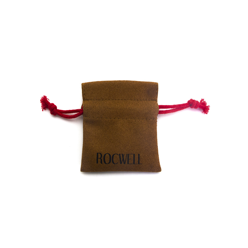 Customized Faux Suede Drawstring Bag For Ring Packaging-UIP001