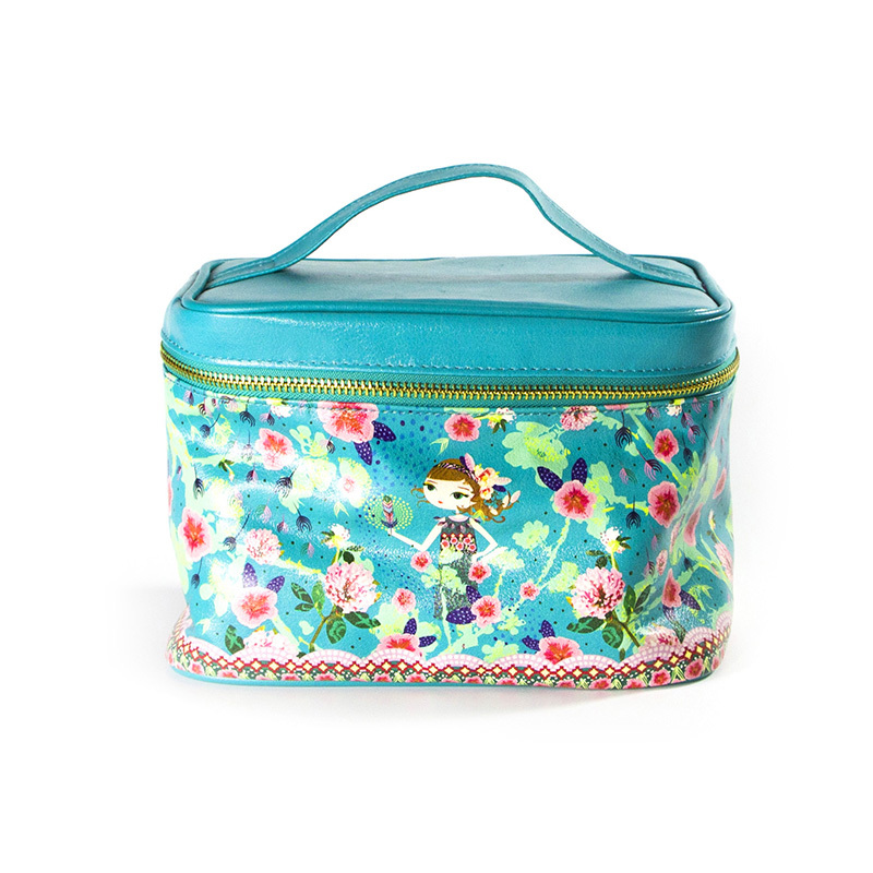 Custom Printed Large Pu Leather Cosmetic Bags Wholesale-UIP008