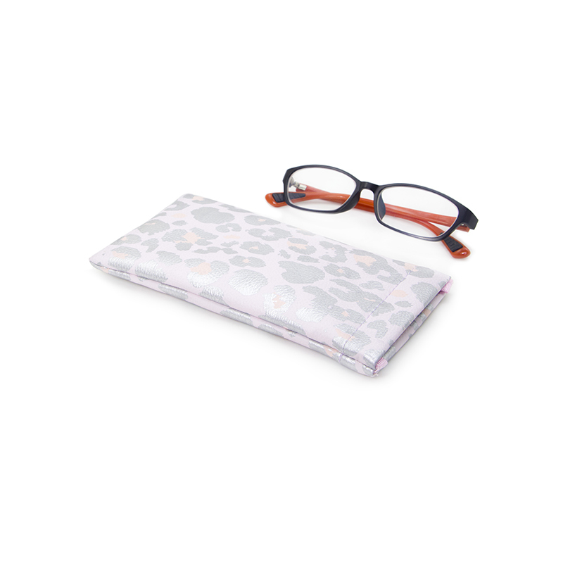 Custom Printed Soft Pu Leather Sunglasses Pouch With Spring-UIP013