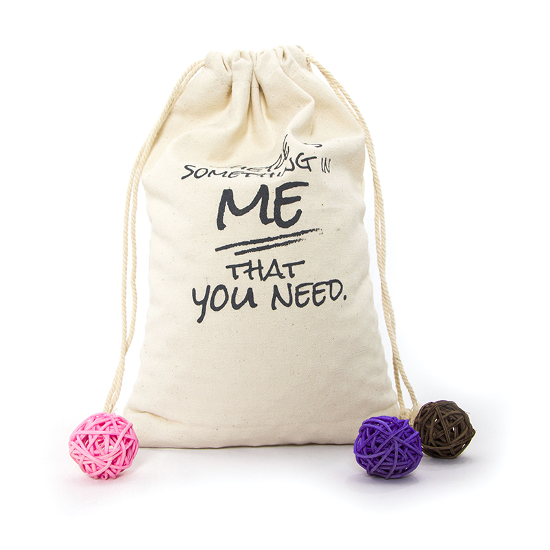 Custom Order Natural Canvas Drawstring Bag For Packing-UIP017