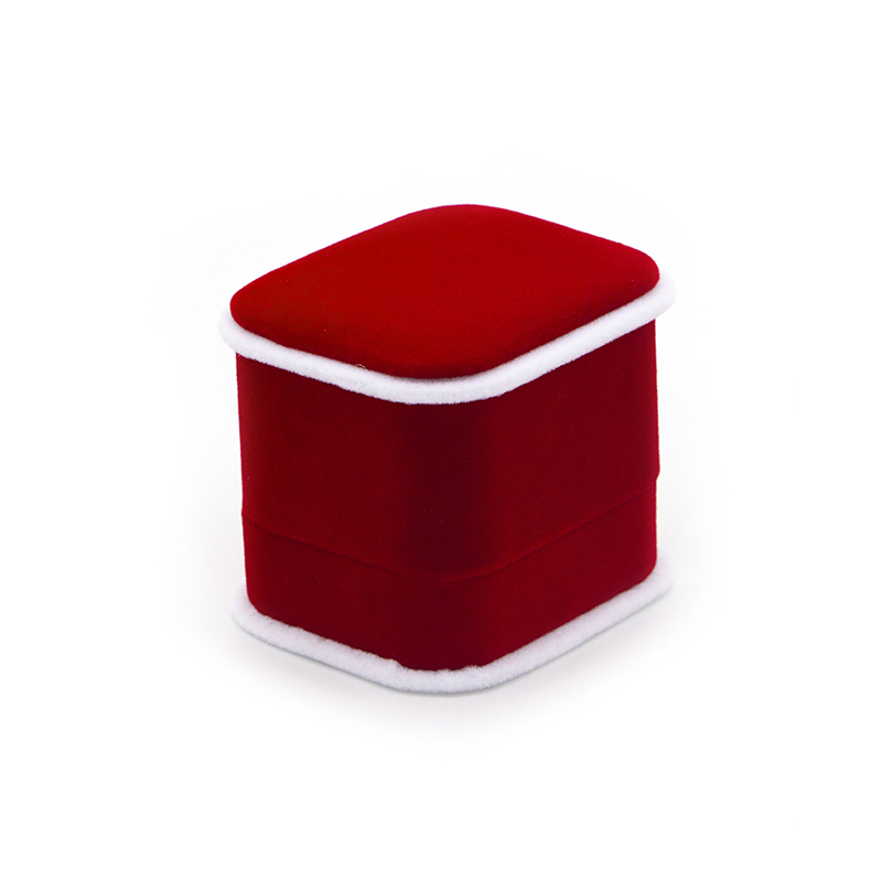 Luxury Custom Red Crushed Velvet Box For Wedding-UIP018