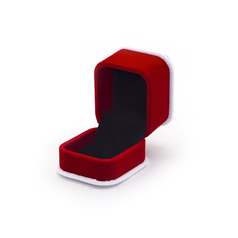 Luxury Custom Red Crushed Velvet Box For Wedding-UIP018