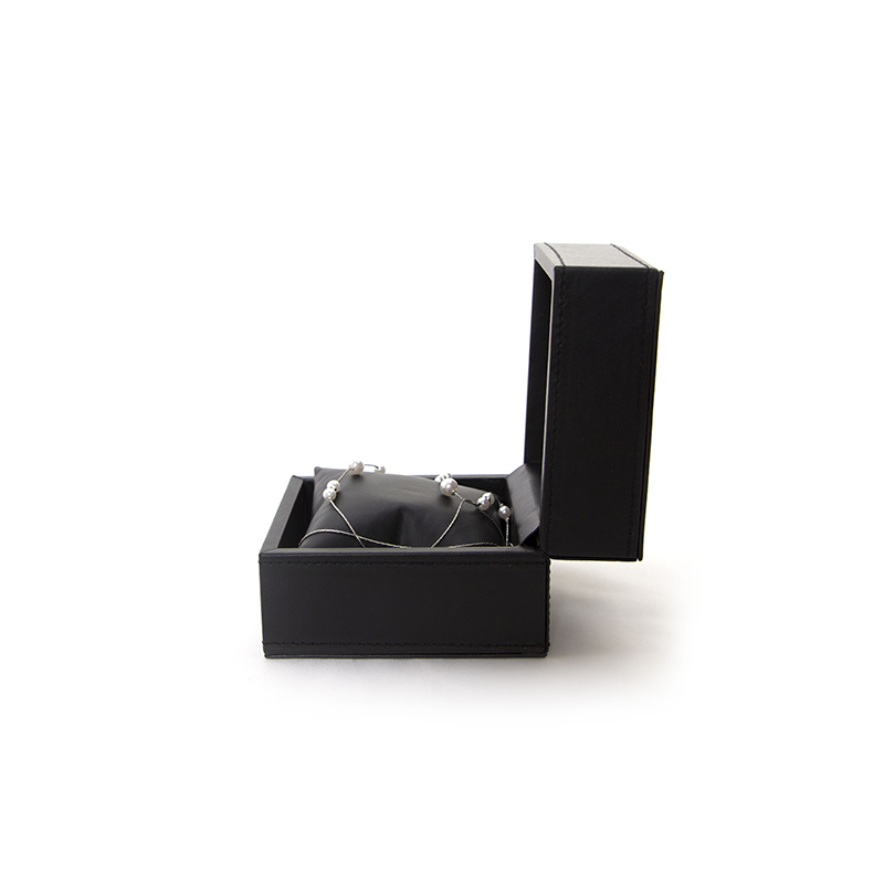 Custom Made Luxury Black Pu leather Watch Box-UIP012