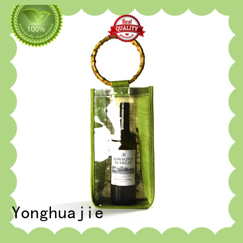 high-quality jute tote bags bamboo handle for packing Yonghuajie