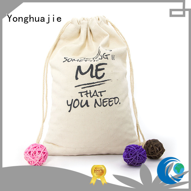 Yonghuajie blank wholesale canvas bags pvc for packaging
