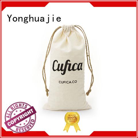 jute cotton natural OEM cotton drawstring bags Yonghuajie