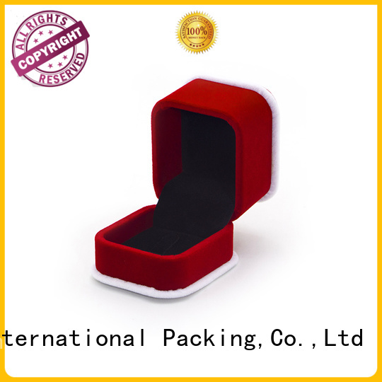 red velvet love box velvet cufflink box luxury for jewelry Yonghuajie