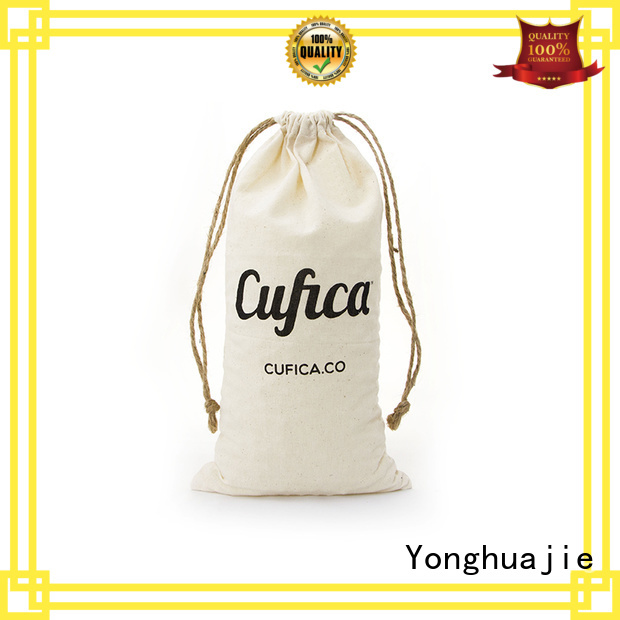 cotton carry bags drawstring storage Yonghuajie Brand company