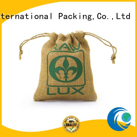 bamboo handle jute sack jute shopping bag high-quality for packing Yonghuajie