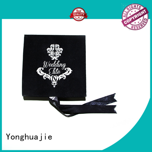 Yonghuajie New velvet ring box Suppliers for wedding rings