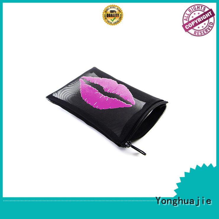 mesh zipper black light mesh shopping bags Yonghuajie Brand