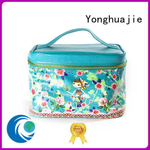 pu leather leather makeup bag at discount for jewelry Yonghuajie