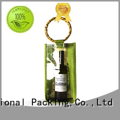 Yonghuajie custom logo organic cotton bags free sample for wine