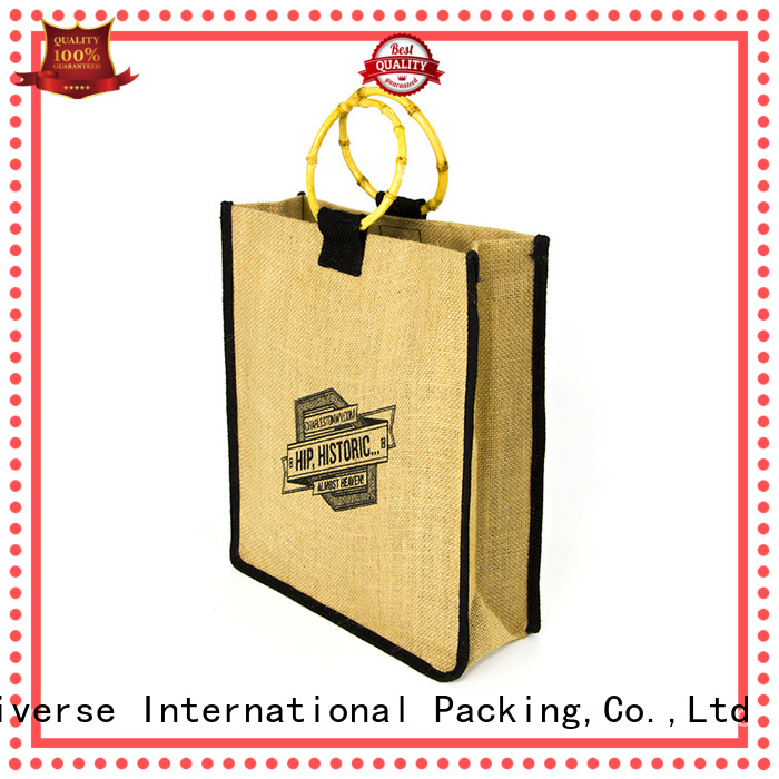 new arrival small jute tote high quality for wine