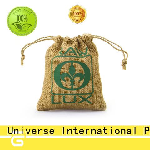 custom logo personalised jute bags jute wine bag drawstring for wholesale for wine