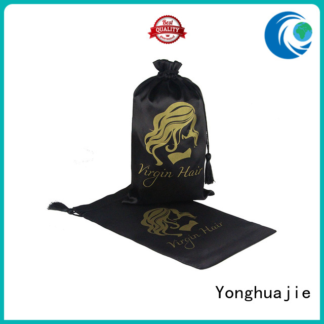 Quality Yonghuajie Brand satin hair bags tassels drawstring