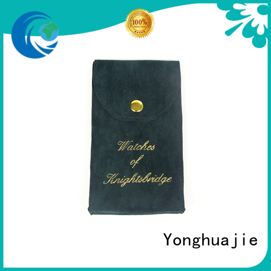 round velvet jewellery pouches at discount for packing Yonghuajie