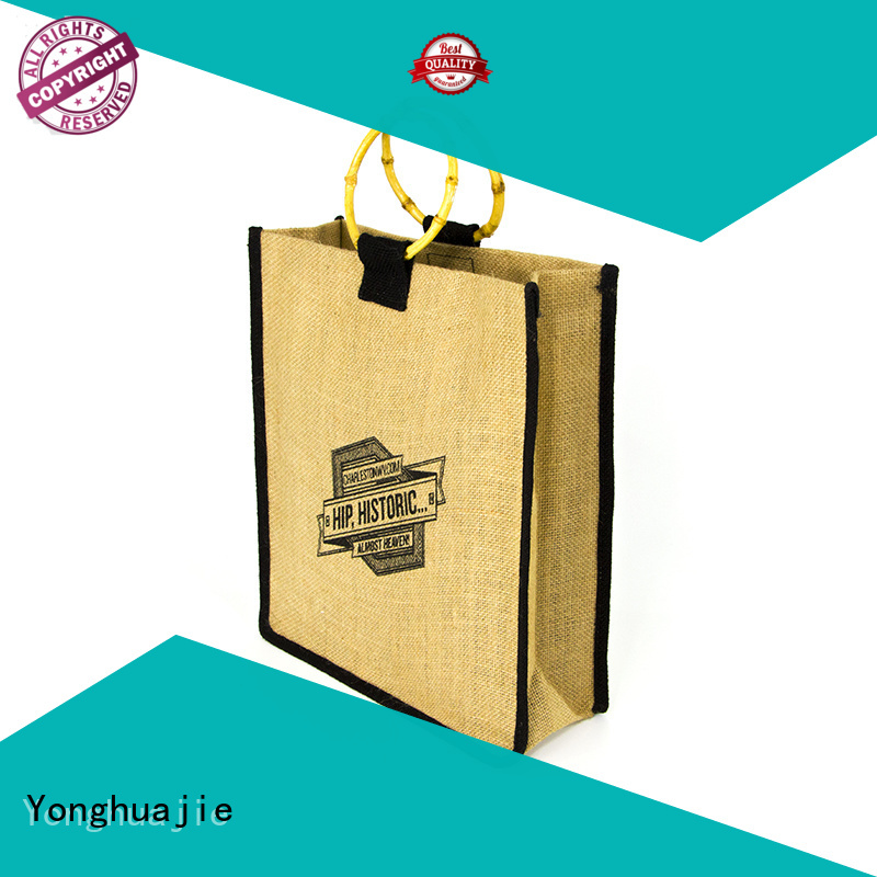 Yonghuajie natural material jute bags wholesale company for packing