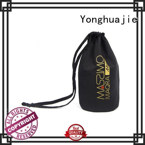 drawstring printing nylon drawstring bag orange Yonghuajie Brand