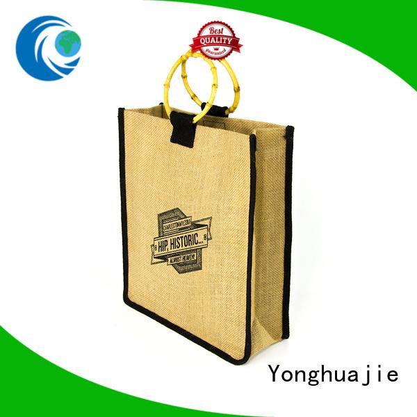 drawstring jute handbags free sample for packing Yonghuajie