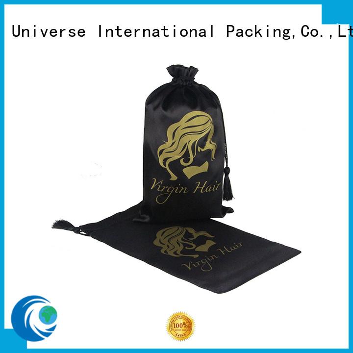 satin hair bags gift drawstring satin bags manufacture