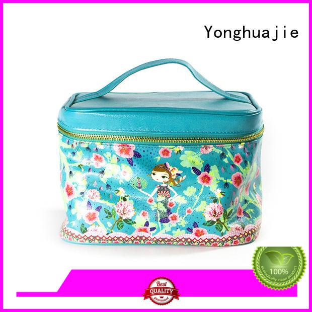 printed custom makeup bags pu leather for wedding rings Yonghuajie