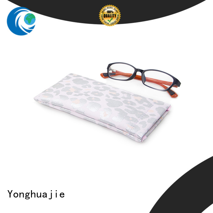 Yonghuajie obm custom makeup bags pu leather for necklace