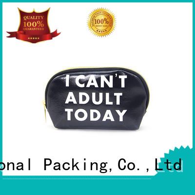 leather cosmetic pouch large Bulk Buy zipper Yonghuajie