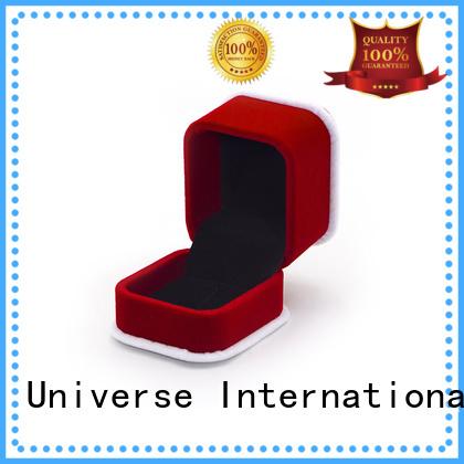 odm crushed velvet box velvet ring boxprinted for necklace