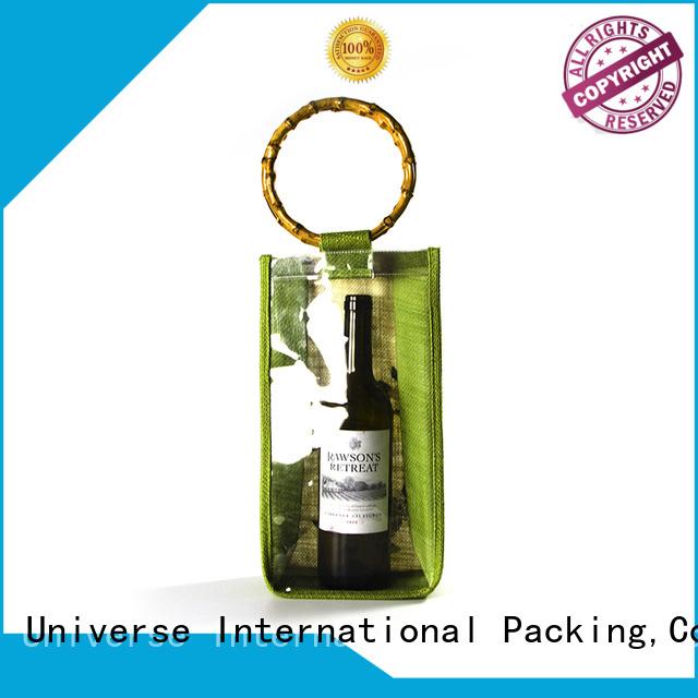 Yonghuajie Brand tote drawstring jute sack                                                                                                                                                                                               jute shopping bag wine