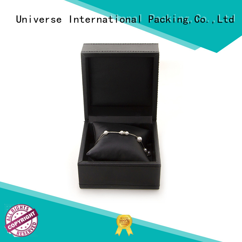 black leather cufflink box fast delivery for jewelry Yonghuajie