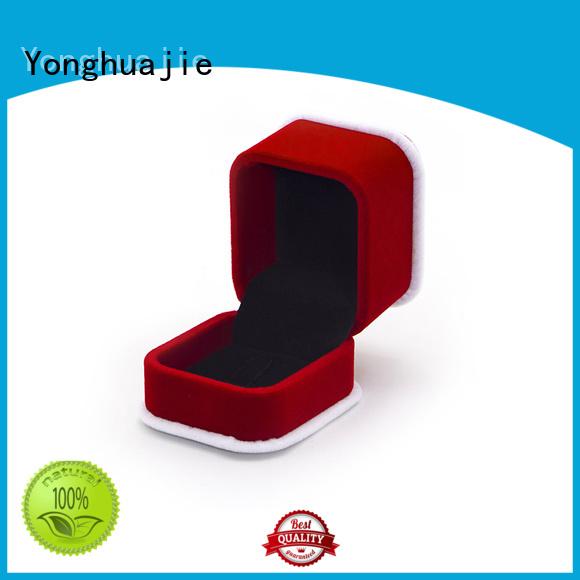Yonghuajie High-quality black velvet jewelry box Suppliers for wedding rings