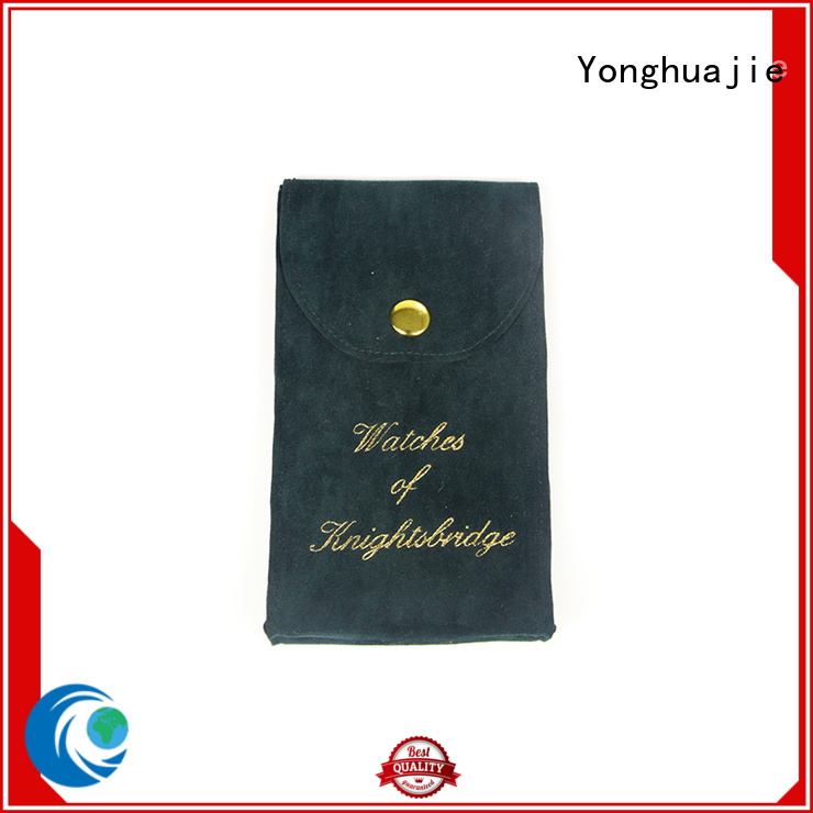 Yonghuajie Latest suede pouches wholesale best factory price for jewelry shop