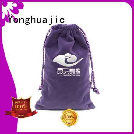 Yonghuajie printed logo velvet pouch cheap for packaging