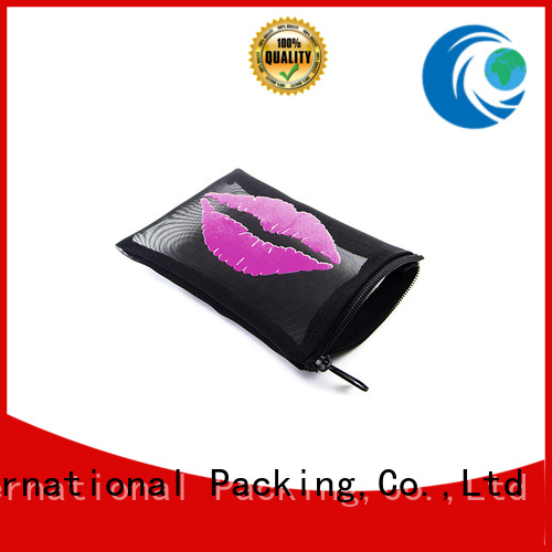 logo mesh drawstring bags for wholesale for gift Yonghuajie