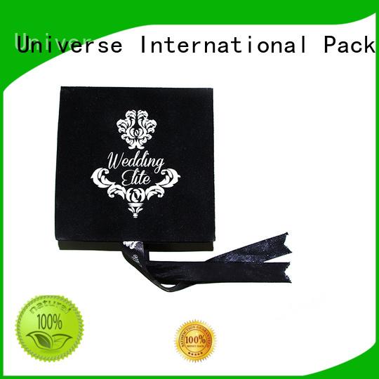 Yonghuajie obm velvet lined box velvet medal box velvet cufflink box small for necklace